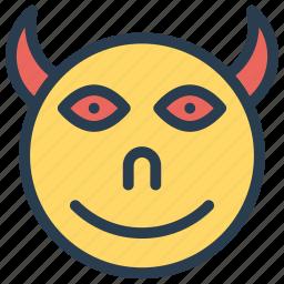 devil, monster, scary, vampire icon