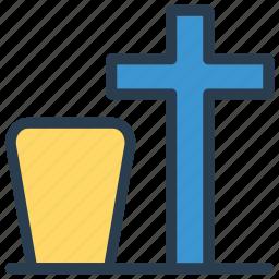 cemetery, death, grave, tombstone icon