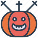 halloween, pumpkin, scary, skull icon