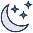 moon, sleep, stars, night