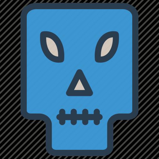 creepy, scary, skull, spooky icon