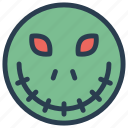 creepy, scary, spooky, zombie icon