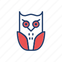 bird, fly, halloween, owl icon