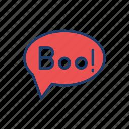 boo, bubble, scary, spooky icon