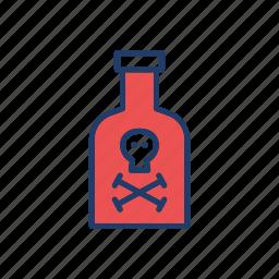 bottle, danger, flask, potion icon