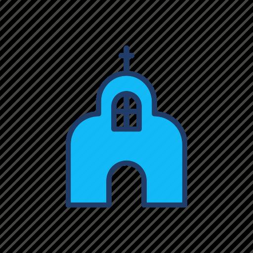 building, catholic, church, estate icon