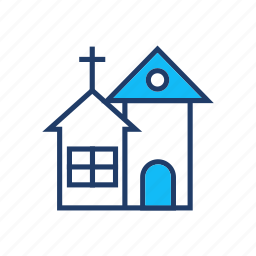 building, catholic, christian, church icon
