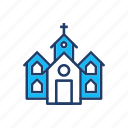 castle, catholic, church, estate icon