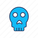 creepy, scary, skull, spooky icon