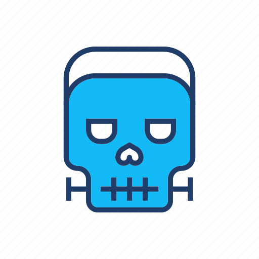 creepy, devil, skull, zombie icon