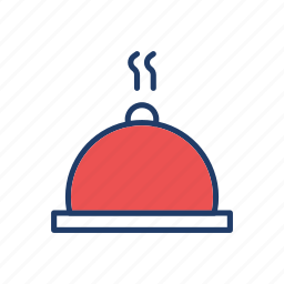 cover, dish, food, restaurant icon