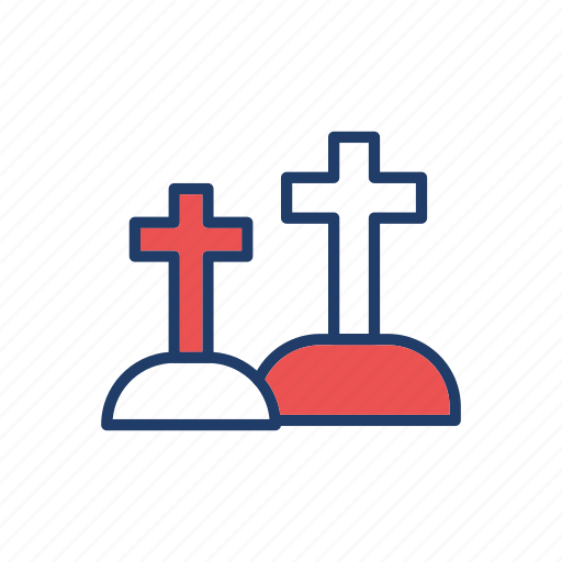 coffin, graveyard, rip, tombstone icon