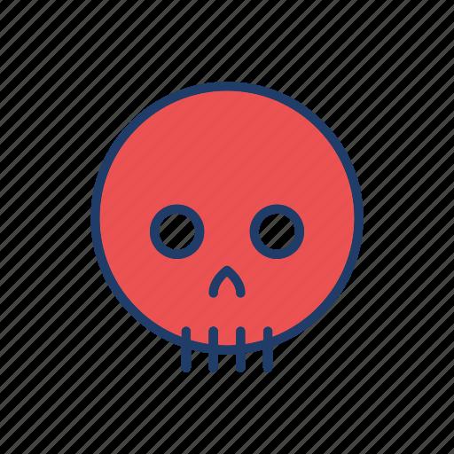halloween, skull, spooky, zombie icon