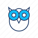 bird, fly, owl, scary icon