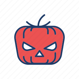 clown, creepy, halloween, pumpkin icon