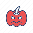 clown, halloween, pumpkin, scary icon