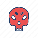 creepy, mummy, skull, spooky icon