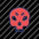 mummy, spooky, creepy, skull