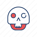 clown, ghost, skull, spooky icon