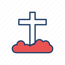 casket, grave, rip, tombstone icon