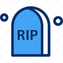 grave, graveyard, halloween, rip icon