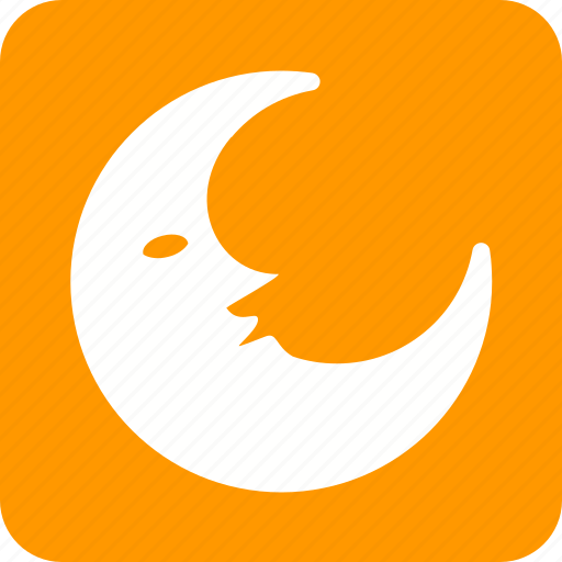 circle, half moon, midnight, moon, moonlight, semi circle, star icon