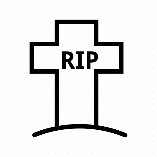 cross, death, grave, graveyard, rip, tombstone icon