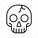 bone, dead, halloween, horror, scary, skeleton, skull icon