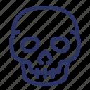 death, halloween, horror, scary, skull, spooky icon