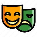 face, faces, happy, mask, sad icon