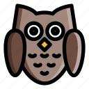 animal, bird, feather, nature, owl, wildlife icon