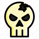 halloween, horror, skeleton, skull icon