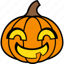 halloween, holiday, pumpkin, smiley, vegetable