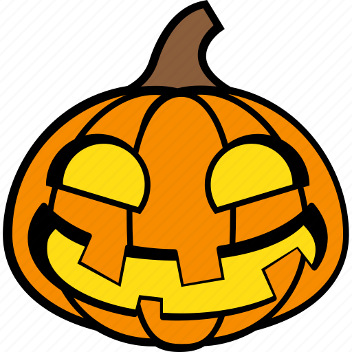 halloween, holiday, laughing, pumpkin, vegetable icon