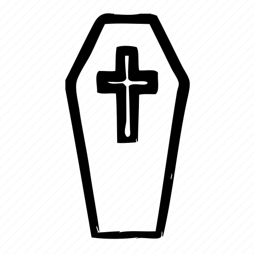 coffin, dead, grave, graveyard, skeleton icon