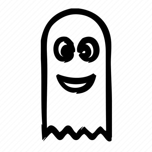 emoticons, ghost, happy, scary icon