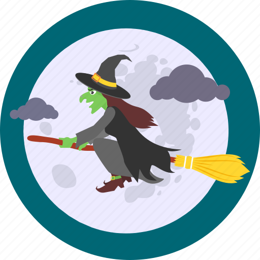 flying, ghost, halloween, horror, monster, spooky, witch icon