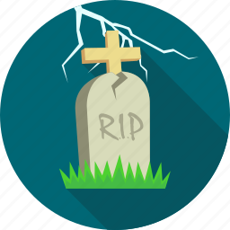 death, grave, halloween, lighting, rip, tombstone, with icon