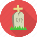 cemetery, funeral, gravestone, graveyard, halloween, rip, tombstone icon