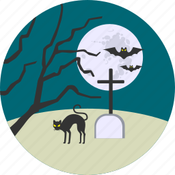 cemetery, dead, death, grave, graveyard, halloween, rip icon
