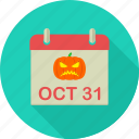 date, day, halloween, horror, month, october, scary icon