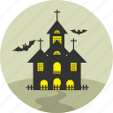 haunt, haunted, home, horror, house, hut, villa icon