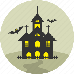haunt, haunted, home, horror, house, hut, villa icon