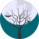 bats, cloud, forest, halloween, night, sky, tree icon
