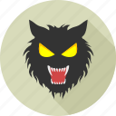 animal, animals, danger, halloween, scary, wild, wolf icon