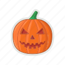 halloween, head, pumpkin, vegetable icon