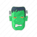 frankenstein, green, halloween, monster icon