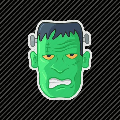 frankenstein, green, halloween, monster icon