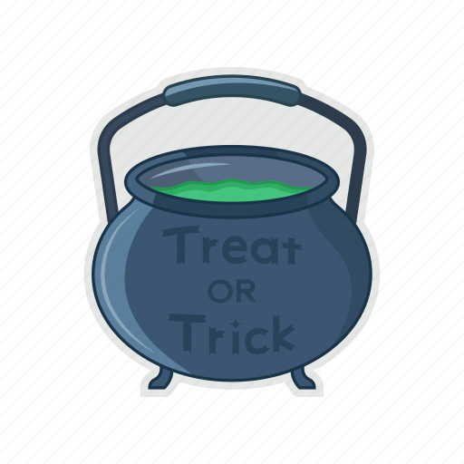 halloween, magic, pan, spell icon