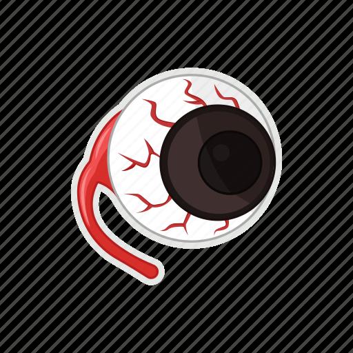 blood, dreadful, eye, halloween icon